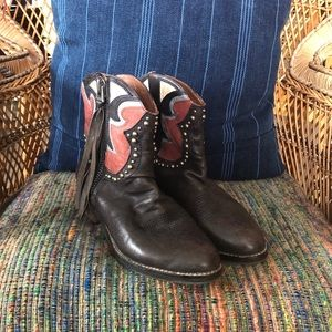 Sam Edelman Gray Shane Zip Western Ankle Boot